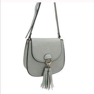 Flap Crossbody with Double Tassel